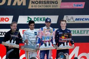 Podium: Race winner Maximilian Götz, Haupt Racing Team, second place Arjun Maini, GetSpeed Performance, third place Liam Lawson, AF Corse