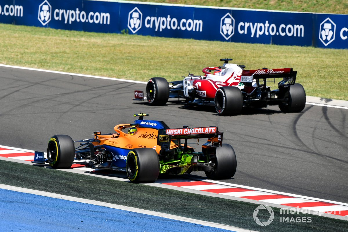 Robert Kubica, Alfa Romeo Racing C41, Lando Norris, McLaren MCL35M