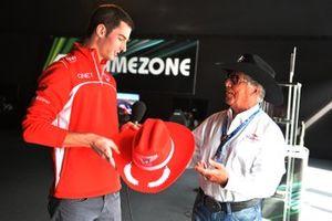 Mario Andretti, COTA Ambassador with Alexander Rossi