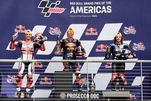 Fabio di Giannantonio, Federal Oil Gresini Moto2 , Raul Fernandez, Red Bull KTM Ajo, Marco Bezzecchi, Sky Racing Team VR46