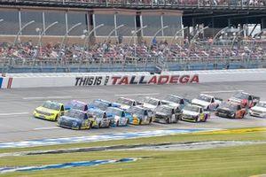 Todd Gilliland, Front Row Motorsports, Ford F-150 Speedco, Matt Crafton, ThorSport Racing, Toyota Tundra Zep/Menards, Ben Rhodes, ThorSport Racing, Toyota Tundra Bombardier LearJet 75