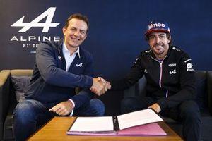 Laurent Rossi, CEO, Alpine, Fernando Alonso, Alpine