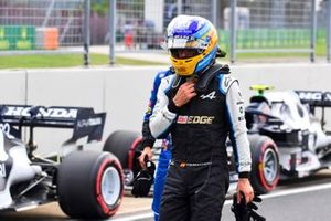 Fernando Alonso, Alpine F1, in Parc Ferme after Qualifying