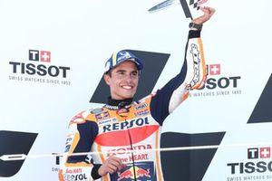 Podio: segundo lugar Marc Márquez, Equipo Repsol Honda