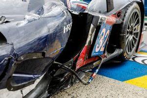 #32 United Autosports Oreca 07 - Gibson LMP2 of Nicolas Jamin, Jonathan Aberdein, Manuel Maldonado, damage detail