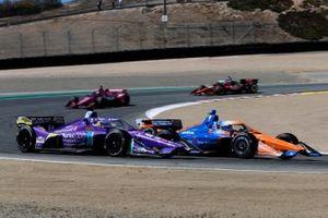 Romain Grosjean, Dale Coyne Racing with RWR Honda, Scott Dixon, Chip Ganassi Racing Honda