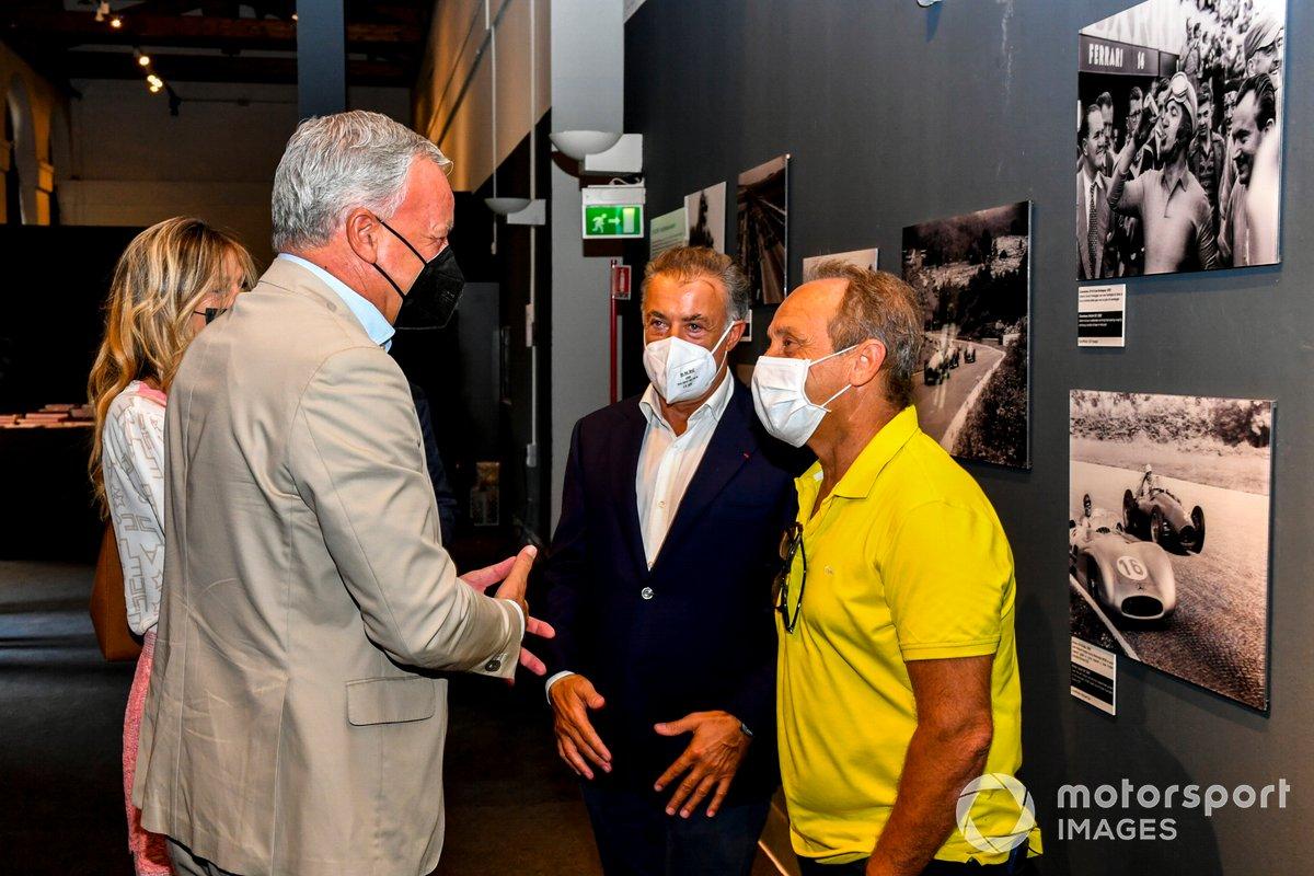 Jean Alesi y Pierluigi Martini