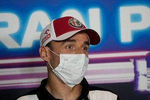 Robert Kubica, Alfa Romeo Racing C41 at the press conference