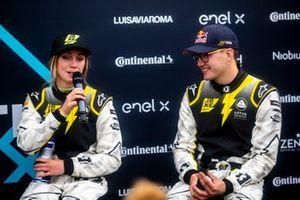 Mikaela Ahlin-Kottulinsky, Kevin Hansen, JBXE Extreme-E Team, 2nd position, in the Press Conference
