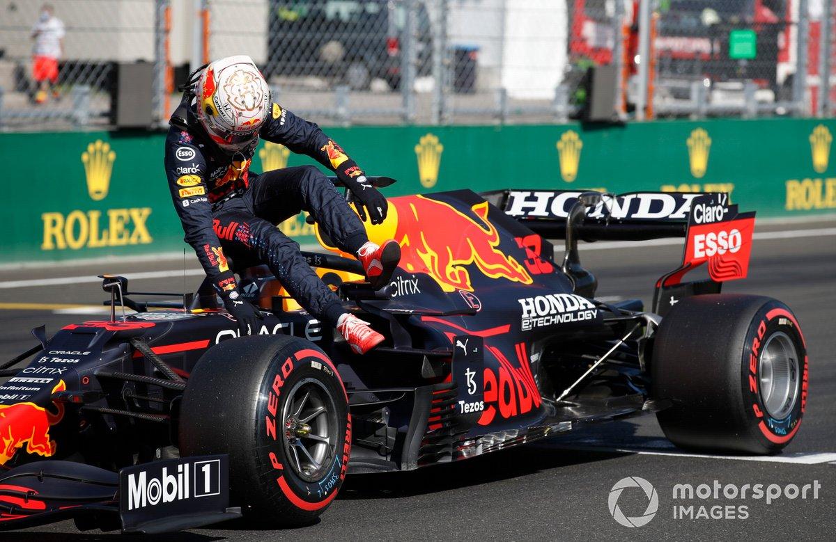 Max Verstappen, Red Bull Racing, in griglia dopo le qualifiche