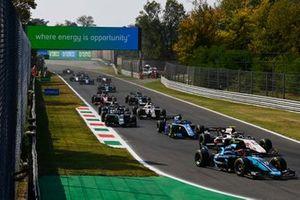 Marcus Armstrong, Dams, Theo Pourchaire, ART GrPrix, Guanyu Zhou, Uni-Virtuosi Racing