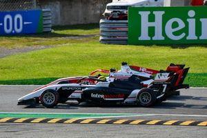 Oscar Piastri, Prema Racing and Theo Pourchaire, ART Grand Prix battle