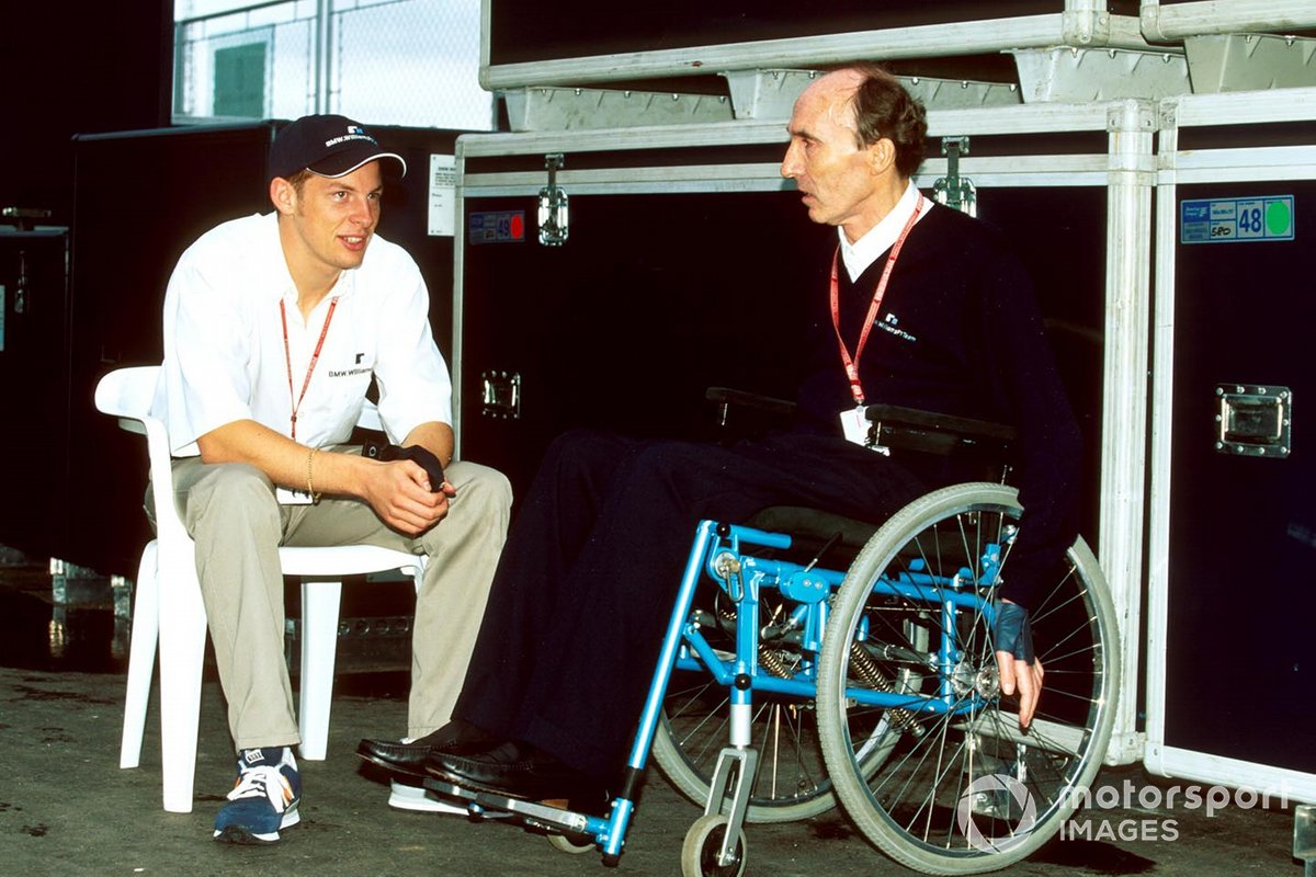 Incontro di Jenson Button con Frank Williams