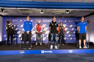 Johann Zarco, Joan Mir, Francesco Bagnaia, Fabio Quartararo, Alex Rins, mit Jorge Martin, Moto2