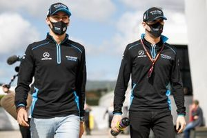 Nicholas Latifi, Williams Racing and George Russell, Williams Racing