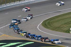 Sheldon Creed, GMS Racing, Chevrolet Silverado Chevy Truck Montha nd Chandler Smith, Kyle Busch Motorsports, Toyota Tundra JBL