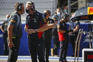 Christian Horner, Team Principal, Red Bull Racing, talks with Jonathan Wheatley, Team Manager, Red Bull Racing