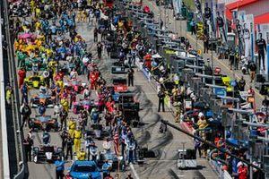 Takuma Sato, Rahal Letterman Lanigan Racing Honda, Josef Newgarden, Team Penske Chevrolet, Pre Gara