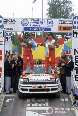 Yarış galibi Carlos Sainz, Luis Moya, Toyota Celica GT4