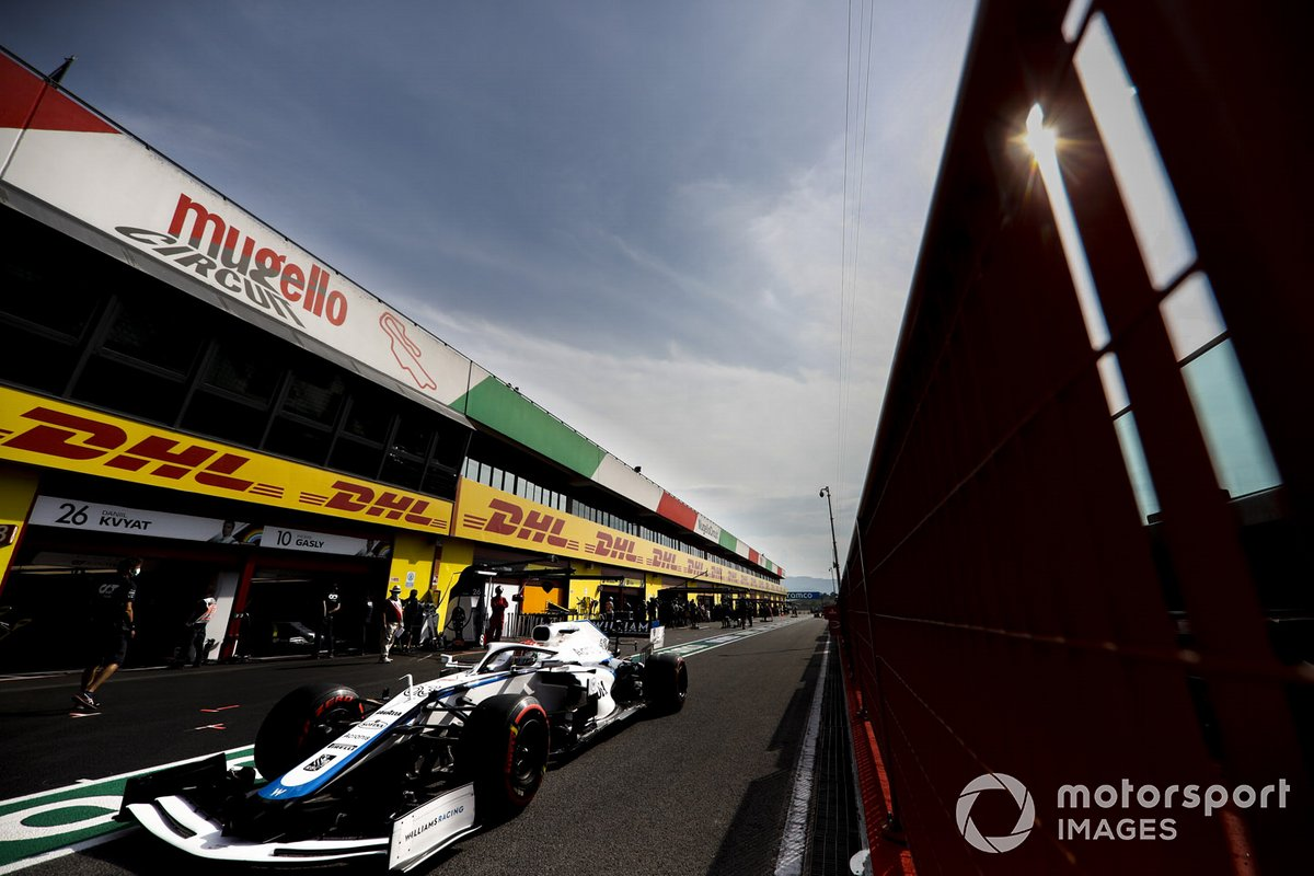 George Russell, Williams FW43, sale de pits