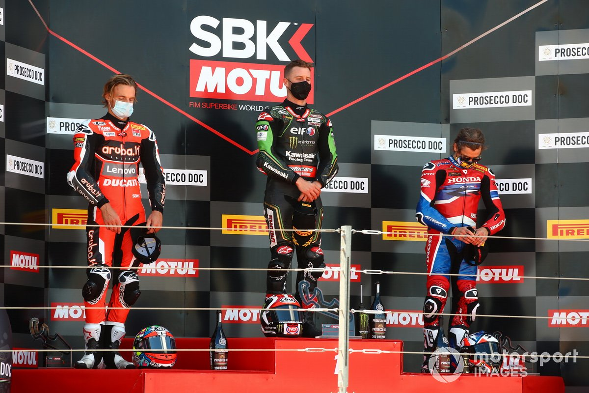 Chaz Davies, Aruba.it Racing Ducati, Jonathan Rea, Kawasaki Racing Team, Alvaro Bautista, Team HRC