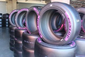Pink Dunlop tyres