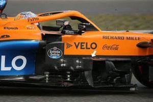 McLaren MCL35 new bargeboard detail on the car of Carlos Sainz Jr.