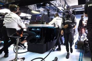 Lewis Hamilton, Mercedes-AMG F1, in the garage