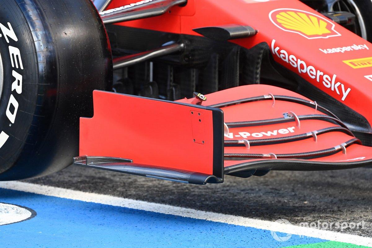 Detalles técnicos del Ferrari