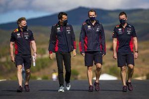 Alex Albon, Red Bull Racing, on the track walk