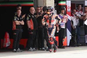 Jorge Lorenzo, Repsol Honda Team runs back to garages