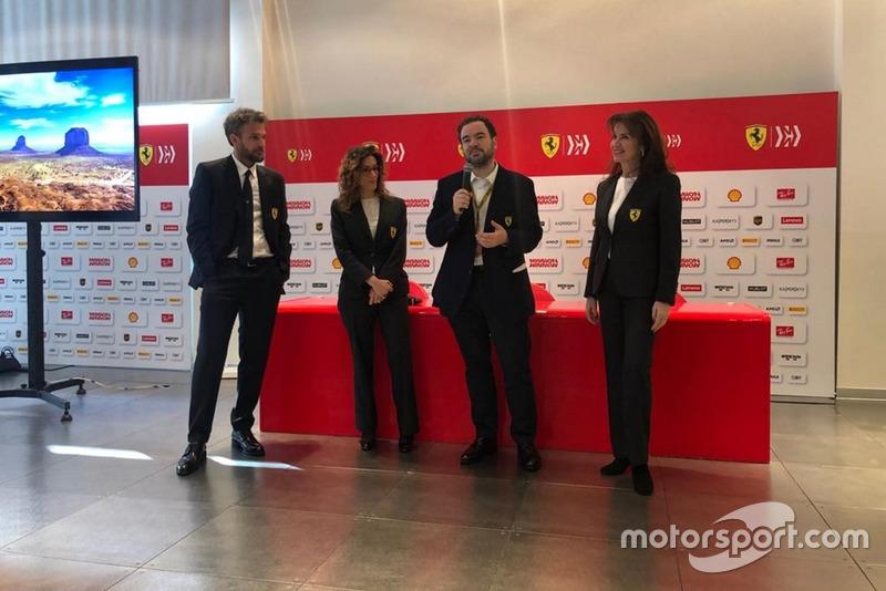 Silvia Hoffer Frangipane prima della presentazione del team Ferrari