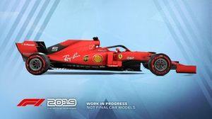 F1 2019 Ferrari livery