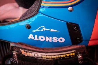 301# Toyota Gazoo Racing Toyota Hilux: Fernando Alonso, helmet detail