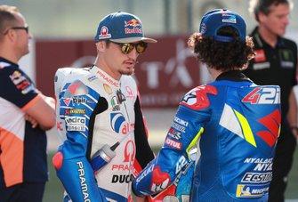 Джек Миллер, Alma Pramac Racing, и Алекс Ринс, Team Suzuki Ecstar