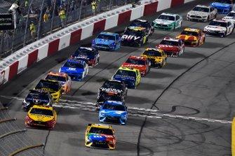 Kyle Busch, Joe Gibbs Racing, Toyota Camry M&M's, Joey Logano, Team Penske, Ford Mustang Shell Pennzoil