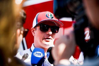 Kimi Raikkonen, Alfa Romeo Racing talks to the media