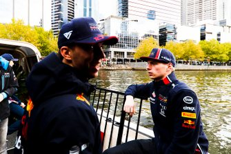 Max Verstappen en Pierre Gasly, Red Bull Racing
