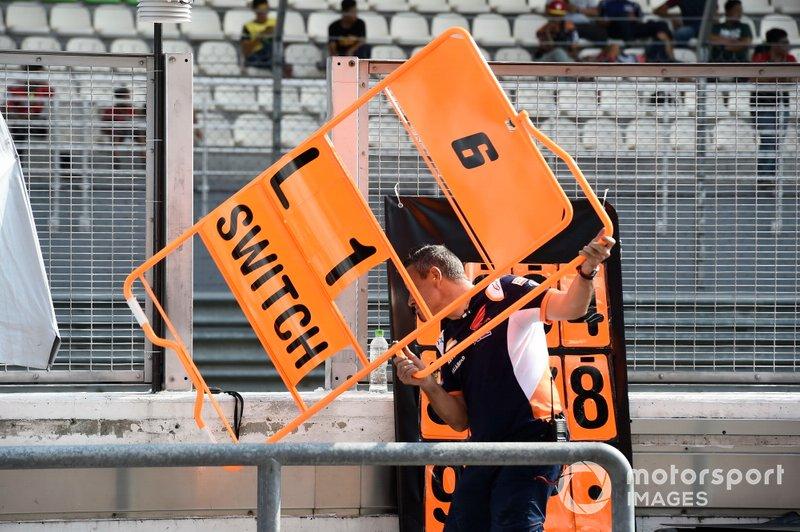 Boxentafel für Stefan Bradl, HRC Honda Team