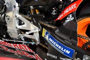Repsol Honda Team, dettaglio della pedaliera