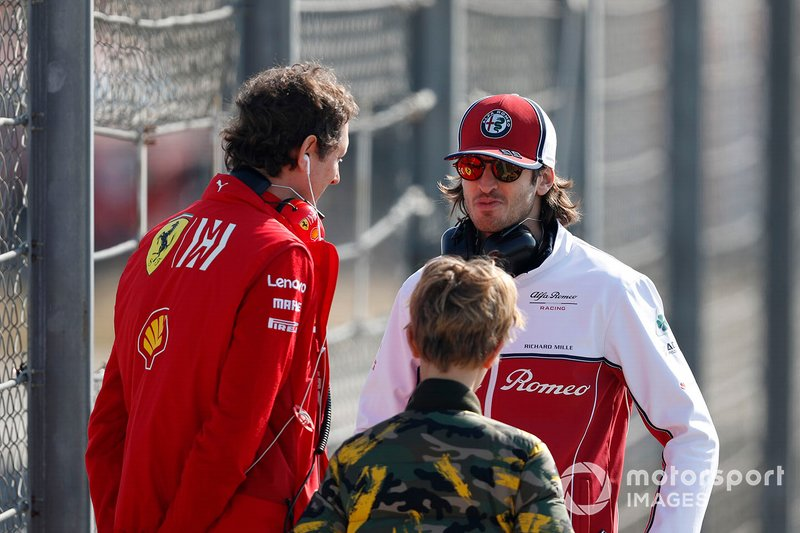 Antonio Giovinazzi, Alfa Romeo Racing John Elkann, président de FIAT avec son fils