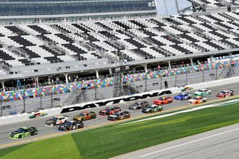 Brad Keselowski, Team Penske, Ford Mustang Fitzgerald and Jeffrey Earnhardt, Joe Gibbs Racing, Toyota Supra iK9