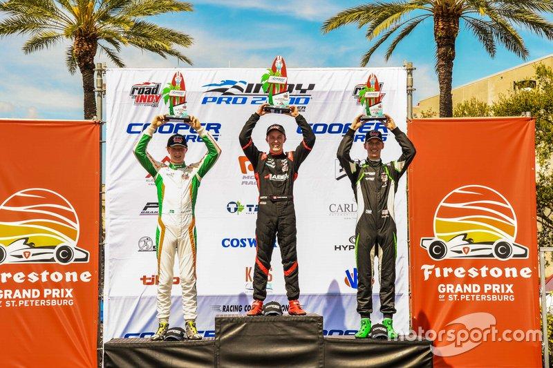 Race 1 Winners, Parker Thompson, Rasmus Lindh, Sting Ray Robb