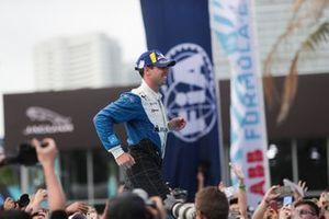 Antonio Felix da Costa, BMW I Andretti Motorsports, runs to the podium