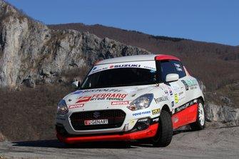 Fabio Poggio, Valentina Briano, Suzuki Swift R1B #59, Alma Racing