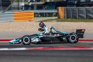 Colton Herta, Harding Steinbrenner Racing Honda detenido en pista