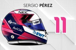 Le casque 2019 de Sergio Pérez