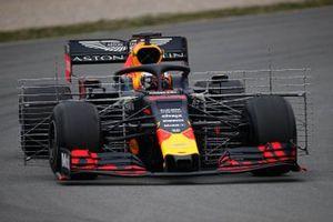 Max Verstappen, Red Bull Racing RB15, avec des capteurs aéro