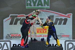 TA3 podium finishers Cindi Lux, Jason Daskalos, and Dirk Leuenberger