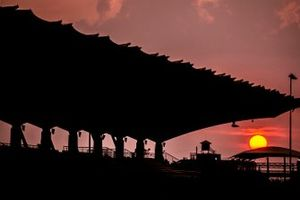 Sonnenuntergang am Sepang International Circuit